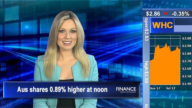 Market rebound: Aus shares 0.89% higher at noon