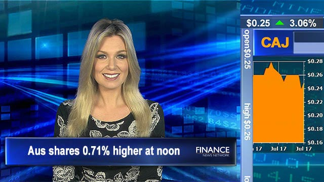Banks bounce: Aus shares 0.71% higher at noon