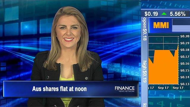 Iron ore fall caps gains: Aus shares flat at noon