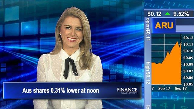 Weak Wednesday: Aus shares 0.31% lower at noon