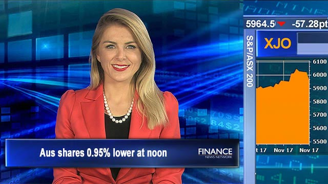 Profit taking drags us lower: Aus shares 0.95% lower at noon