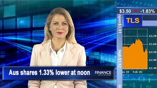 Bourse slides less than expected: Aus shares 1.3% lower at noon