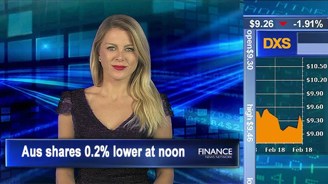 Reporting seasons doldrums: Aus shares 0.2% lower at noon