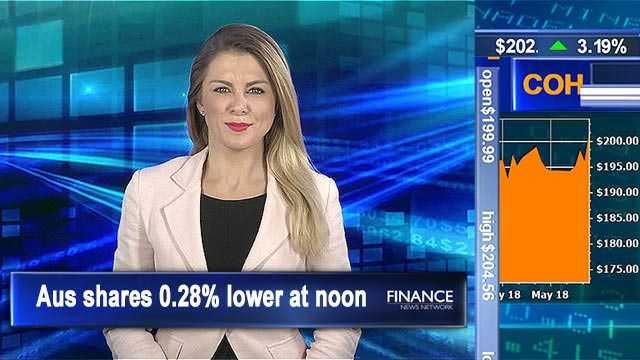 Trade war fears flow to ASX: Aus shares 0.3% lower at noon