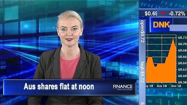 Mixed economic news: Aus shares flat at noon