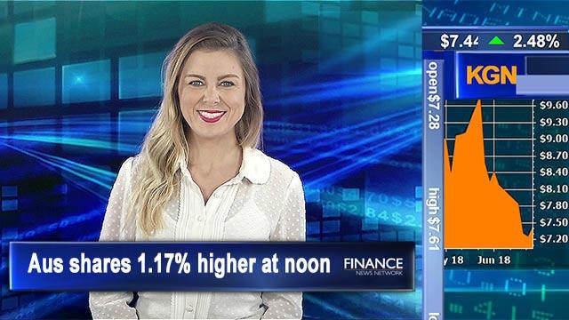 Stellar Friday: Aus shares 1.2% higher at noon