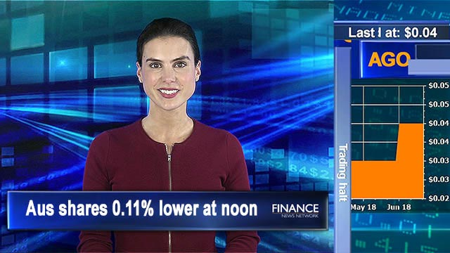Resources and telcos drag down market: Aus shares 0.11% lower at noon