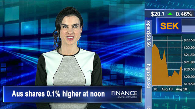 Strong earnings results help market rebound: Aus shares 0.1% higher at noon