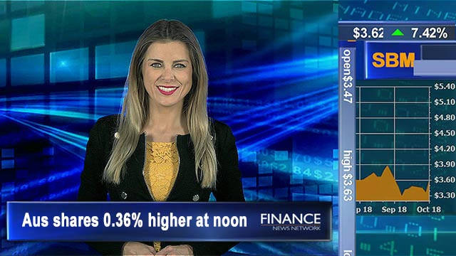 Clawing back, mixed eco news: Aus shares 0.4% higher at noon