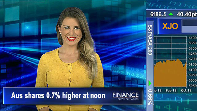 Oiling up: Aus shares 0.7% higher at noon