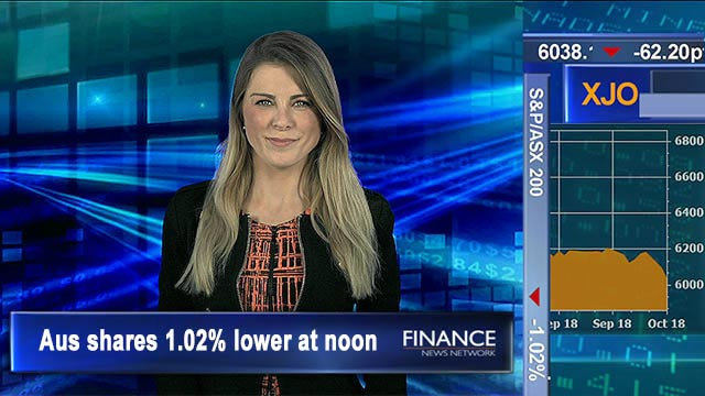 Two-day nose dive on US rate concerns: Aus shares 1% lower at noon