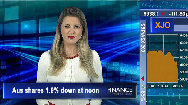Down on Chinese selling US stocks to 8-mth low: Aus shares 1.9% down at noon