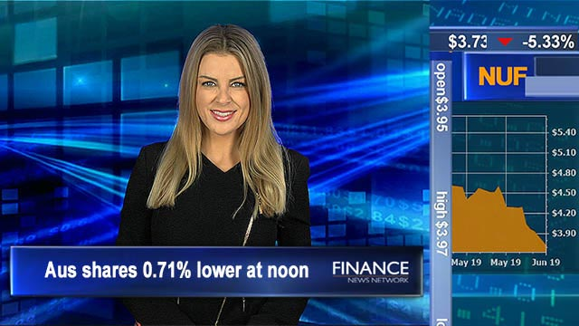 Interest rates tipped to drop tomorrow: Aus shares 0.7% lower at noon