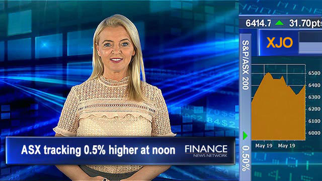 Construction rates fall: ASX tracking 0.5% higher at noon