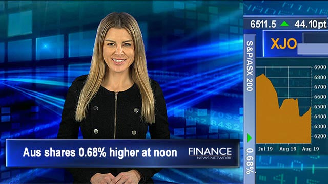 Zip cements itself globally, Ingenia beats guidance: Aus shares gain for 2nd day, up 0.7% at noon