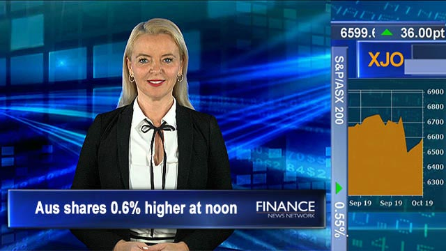 Business conditions show weakness despite tax cuts: ASX tracking 0.6% higher at noon
