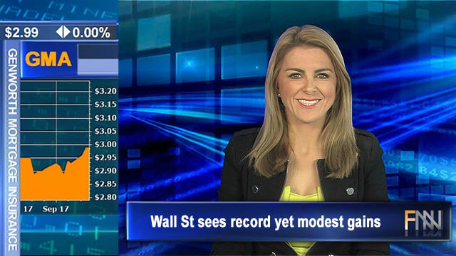 Wall St sees record yet modest gains: ASX futures flat