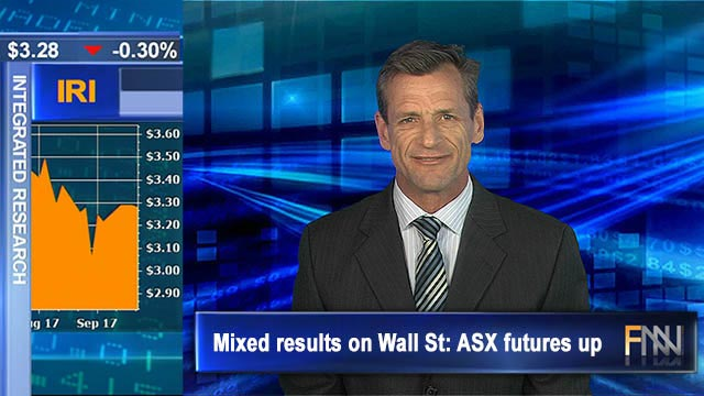Mixed results on Wall St: ASX futures up