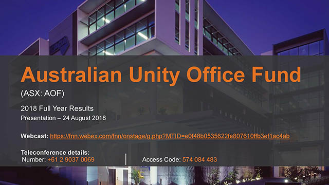 Australian unity office property fund investment m&p investments llc