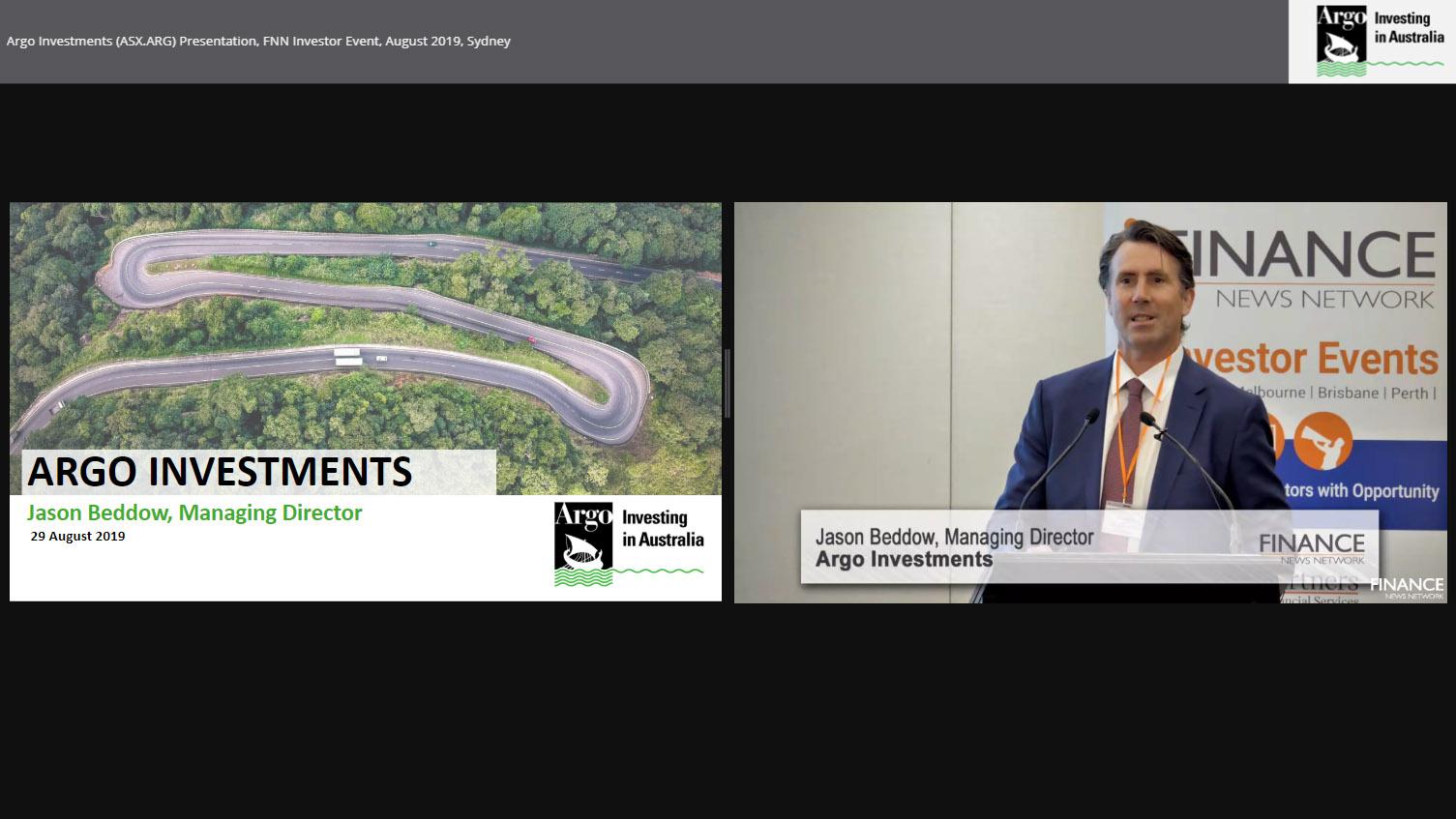 Argo Investments Limited (ASX:ARG) Presentation, FNN